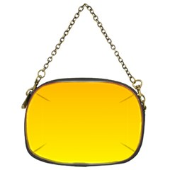 Chrome Yellow To Yellow Gradient Chain Purse (one Side)