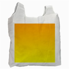 Chrome Yellow To Yellow Gradient Recycle Bag (one Side)