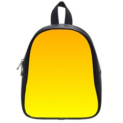 Chrome Yellow To Yellow Gradient School Bag (small)