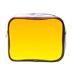 Chrome Yellow To Yellow Gradient Mini Travel Toiletry Bag (one Side) by BestCustomGiftsForYou