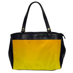 Chrome Yellow To Yellow Gradient Oversize Office Handbag (one Side) by BestCustomGiftsForYou
