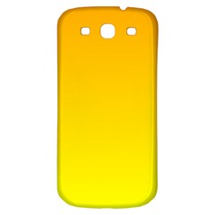 Chrome Yellow To Yellow Gradient Samsung Galaxy S3 S Iii Classic Hardshell Back Case