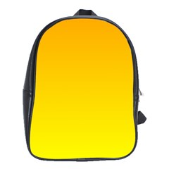 Chrome Yellow To Yellow Gradient School Bag (xl)