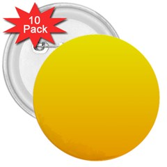 Yellow To Chrome Yellow Gradient 3  Button (10 Pack) by BestCustomGiftsForYou