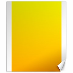 Yellow To Chrome Yellow Gradient Canvas 20  X 24  (unframed)