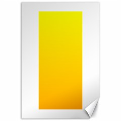 Yellow To Chrome Yellow Gradient Canvas 24  X 36  (unframed)