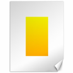 Yellow To Chrome Yellow Gradient Canvas 36  X 48  (unframed)
