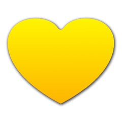 Yellow To Chrome Yellow Gradient Mouse Pad (heart)