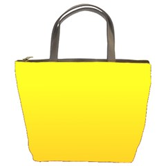 Yellow To Chrome Yellow Gradient Bucket Bag
