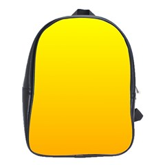 Yellow To Chrome Yellow Gradient School Bag (large)