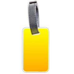 Yellow To Chrome Yellow Gradient Luggage Tag (two Sides)