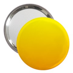 Yellow To Chrome Yellow Gradient 3  Handbag Mirror by BestCustomGiftsForYou