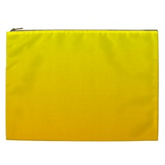 Yellow To Chrome Yellow Gradient Cosmetic Bag (xxl)