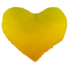 Yellow To Chrome Yellow Gradient 19  Premium Heart Shape Cushion by BestCustomGiftsForYou