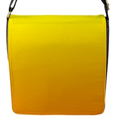 Yellow To Chrome Yellow Gradient Flap Closure Messenger Bag (small)