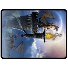 Dragon Land 2 Fleece Blanket (extra Large) by gatterwe