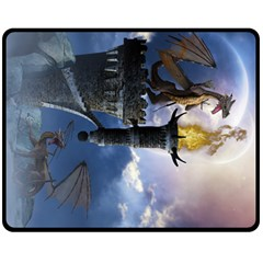 Dragon Land 2 Fleece Blanket (medium) by gatterwe
