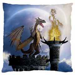 Dragon Land 2 Large Cushion Case (one Side) by gatterwe
