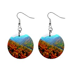 Through The Mountains Mini Button Earrings by Majesticmountain