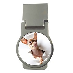Chihuahua Money Clip (round)
