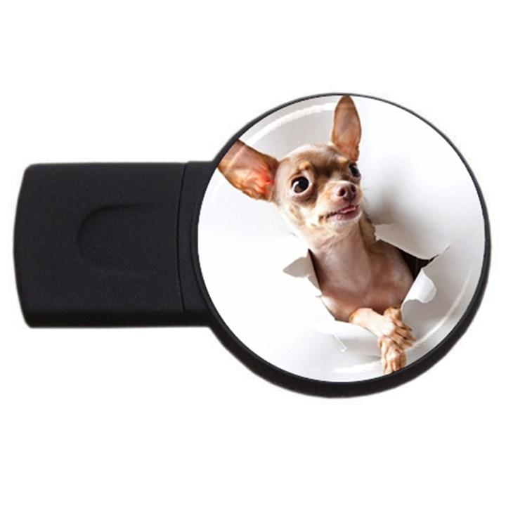 Chihuahua 4GB USB Flash Drive (Round)