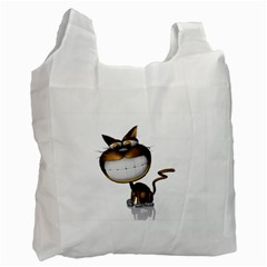 Funny Cat Recycle Bag (one Side) by cutepetshop