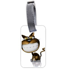 Funny Cat Luggage Tag (two Sides) by cutepetshop