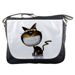 Funny Cat Messenger Bag by cutepetshop