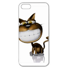 Funny Cat Apple Seamless Iphone 5 Case (clear) by cutepetshop