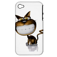 Funny Cat Apple Iphone 4/4s Hardshell Case (pc+silicone)