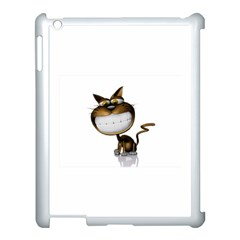 Funny Cat Apple Ipad 3/4 Case (white)