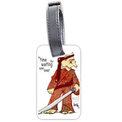 Samurai Cat Luggage Tag (one Side)