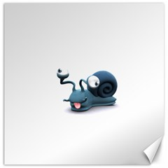 Funny Snail Canvas 16  X 16  (unframed)