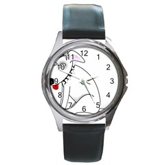 Pitbull Round Metal Watch (silver Rim)