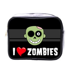 I Love Zombies Mini Travel Toiletry Bag (one Side) by darksite