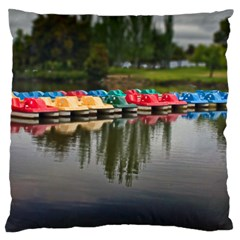 Colorful Boat s Large Cushion Case (one Side) by designsbyvee