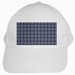 Cool Gray Weave White Baseball Cap by BestCustomGiftsForYou