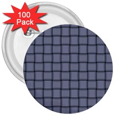 Cool Gray Weave 3  Button (100 Pack) by BestCustomGiftsForYou