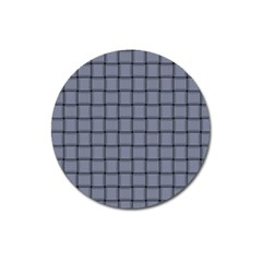 Cool Gray Weave Magnet 3  (round) by BestCustomGiftsForYou