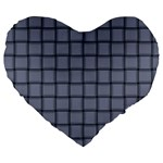 Cool Gray Weave 19  Premium Heart Shape Cushion Front