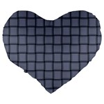 Cool Gray Weave 19  Premium Heart Shape Cushion Back
