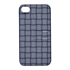 Cool Gray Weave Apple Iphone 4/4s Hardshell Case With Stand by BestCustomGiftsForYou