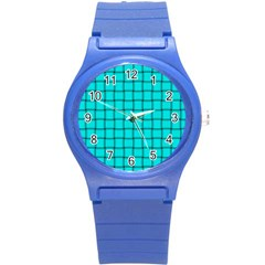 Cyan Weave Plastic Sport Watch (small)