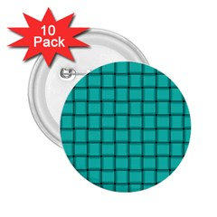 Turquoise Weave 2 25  Button (10 Pack) by BestCustomGiftsForYou