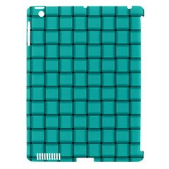 Turquoise Weave Apple Ipad 3/4 Hardshell Case (compatible With Smart Cover) by BestCustomGiftsForYou