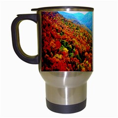 Through The Mountains Travel Mug (white) by Majesticmountain