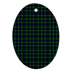 Lamont Tartan Oval Ornament (two Sides) by BestCustomGiftsForYou