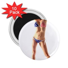 Usa Girl 2 25  Button Magnet (10 Pack)