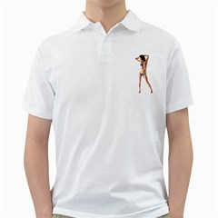 Usa Girl Mens  Polo Shirt (white) by hlehnerer