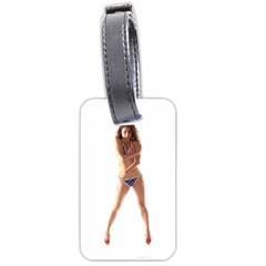 Usa Girl Luggage Tag (one Side) by hlehnerer